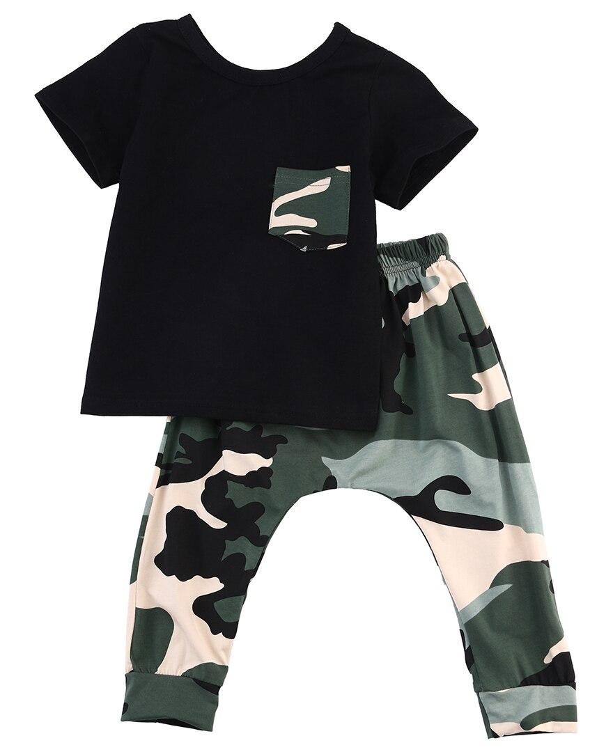 2Pcs Camouflage Clothing Set For Boys-4810