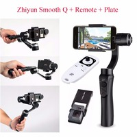 Zhiyun Smooth Q Handheld Gimbal Stabilizer Remote Plate For Smartphone Action Cameras 3 Axis Handheld Gimbals