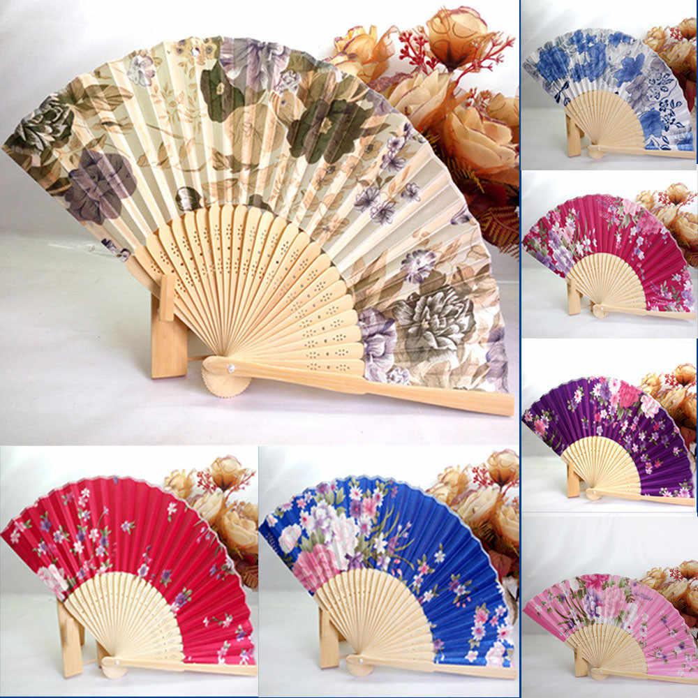 1PC Festival Dekorasi Hot Menjual Japanese Cherry Blossom Lipat Tangan Menari Pesta Pernikahan Dekorasi Fan Dropshipping