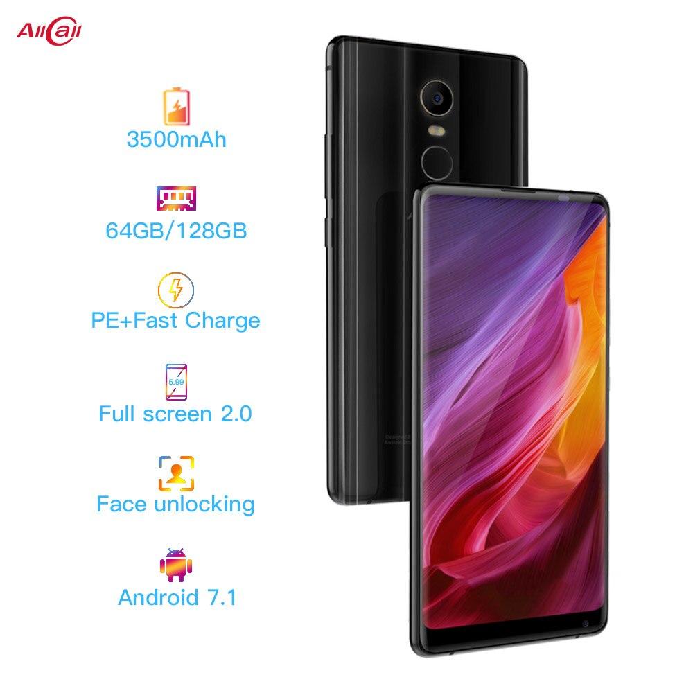 AllCall MIX 2 4G Telefone Móvel Helio P23 64 Octa-Core 6GB de RAM GB ROM 18:9 5.99 FHD + 16MP Polegada + 8MP Carga Sem Fio do SmartPhone