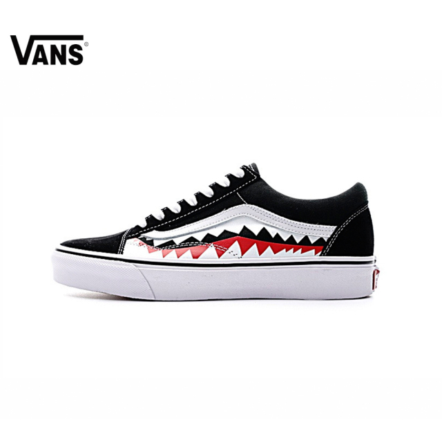 bccf8347383ef3 Original Vans Sneakers Men s Women s Classic X Bape Sharktooth Custom Bape  Skateboarding Shoes Sneakers Canvas Shoes VN0AY8Z7BPW