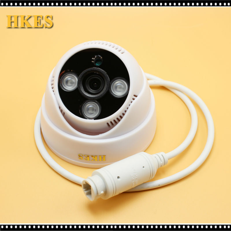 HKES New Arrival 3ARRAY POE Cable IP Camera 2MP 1920*1080P IR Dome Surveillance Mini IP Camera 1MP hkes 2017 new arrival wide angle hd
