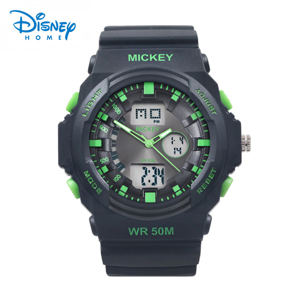 100% Genuine Disney Sports Watches Waterproof Digital Mickey Watch men Rubber Casual Watches relogio LP-PS042-3