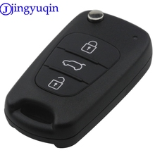jingyuqin 10ps/lot 3 Buttons Remote Car Key Case Cover Fob Styling For Hyundai Avante For Kia K2 Key Shell Cover Housing