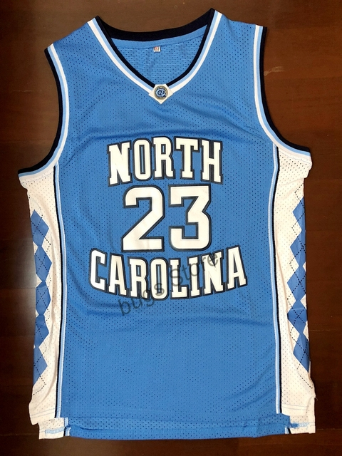 9c84d178b EJ Michael Jordan  23 University Of North Carolina Camisa De Basquete  Costurado Azul