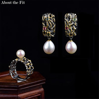 About the Fit New Personality Rings High Quality Baroque Pearl Rings For Women Jewelry Boucle D'oreille