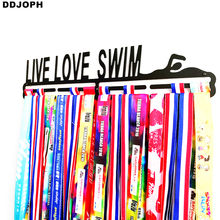LIVE LOVE SWIM medal hanger Swimming medal holder metal medal hanger for swimming