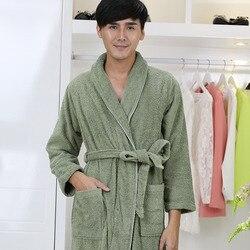 Cotton bathrobe men 100% Cotton Bridesmaid Nightgown Male sleepwear bathrobe blanket towel thickening lovers long soft winter