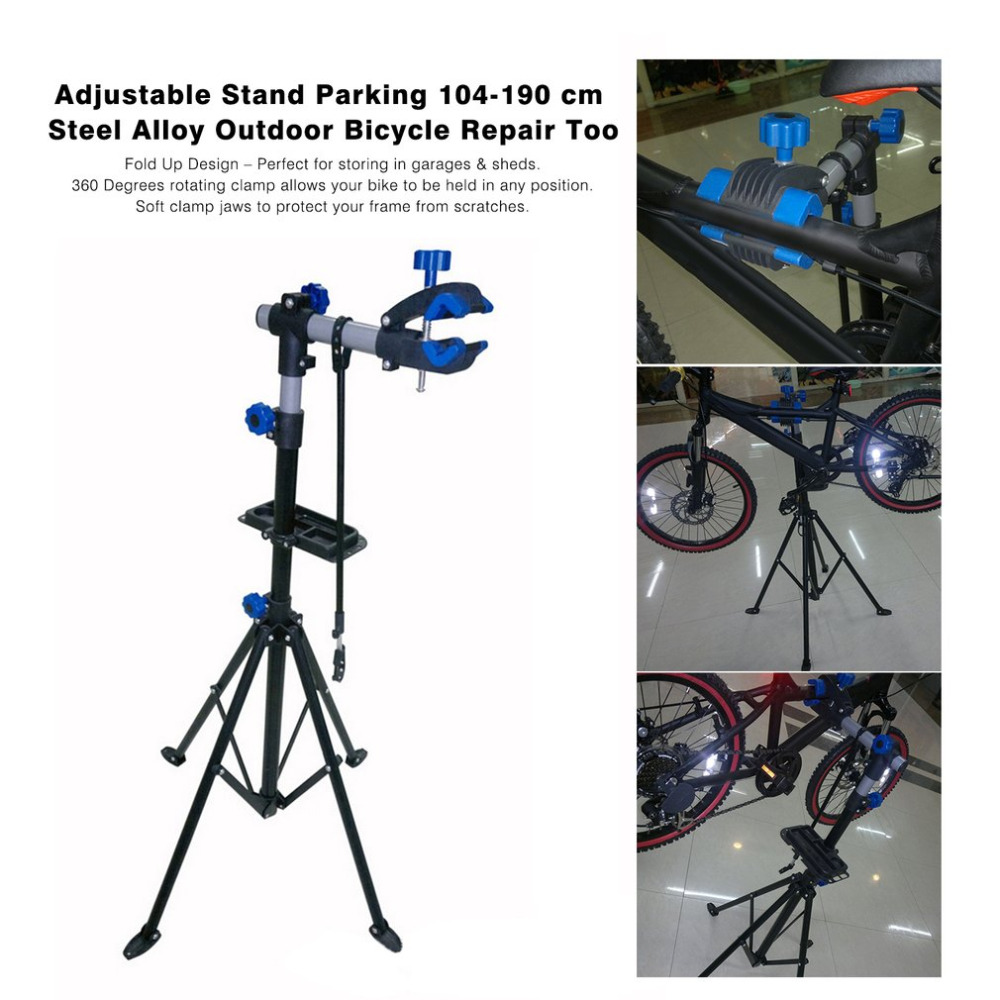 Adjustable Bike Repair Stand Parking Mountain Bicycle Accessories Outdoor Folding Clamp MTB Wall Mount Bicycle Repair