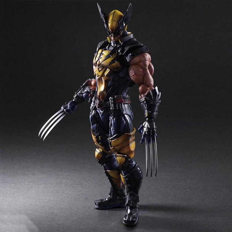 Vogue Super Hero Wolverine Logan Square Enix Play Arts Kai Marvel Universe X-Men Film 26cm Action Figure Statue Toys retail wholesale marvel super hero x men wolverine pvc action figure collectible 1230cm