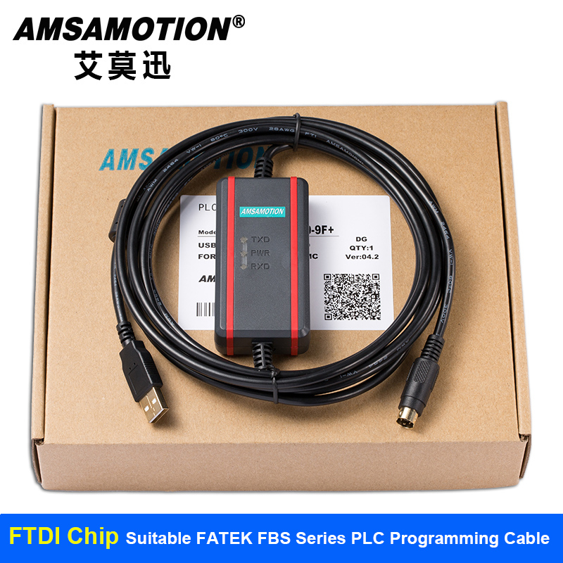 Suitable FATEK FBS series PLC Programming Cable Data download line USB-FBS-232P0-9F+ new and original fbs cb2 fbs cb5 fatek communication board