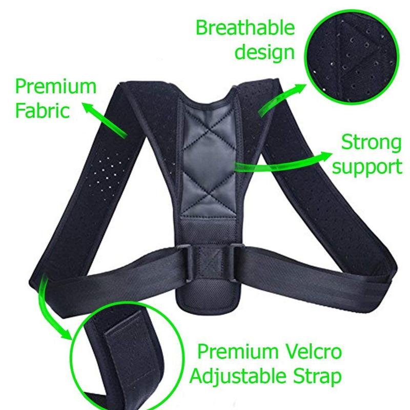 YOSYO Brace Support Belt Adjustable Back Posture Corrector Clavicle Spine Back Shoulder Lumbar Posture Correction 1
