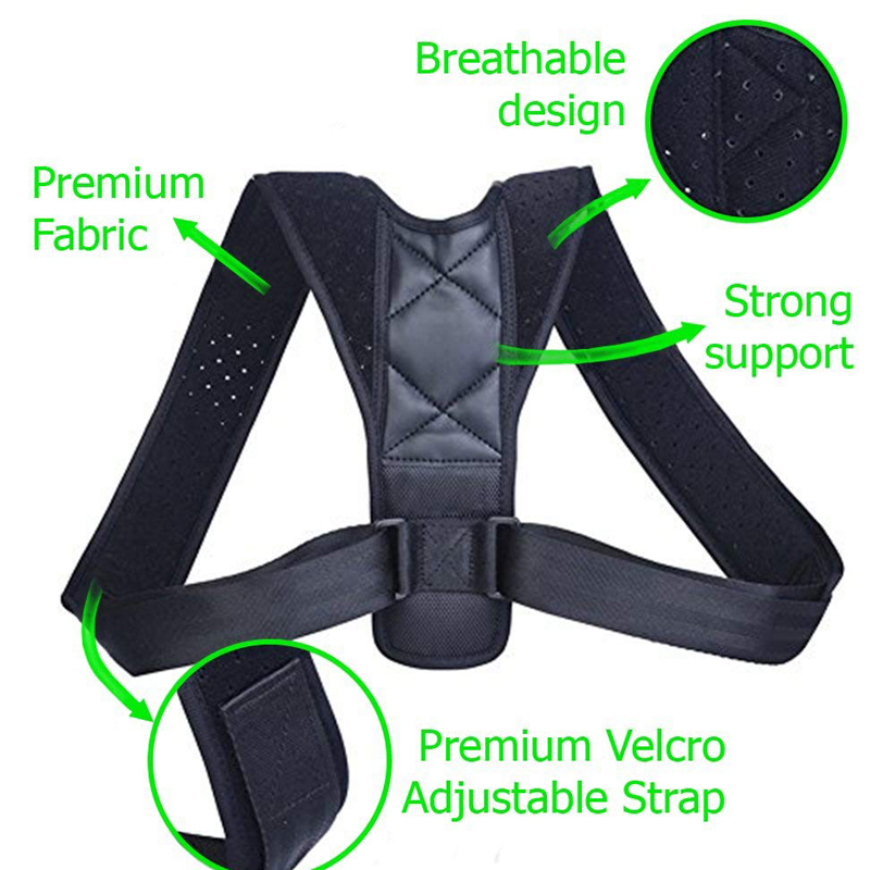 YOSYO Adjustable Posture Corrector Belt for Improvement for Sitting Position and Body Posture Helps to Relieve Pain from Shoulder and Back 2