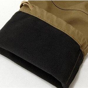 Image 5 - 29 40 calças de carga dos homens do tamanho grande inverno calças quentes grossas comprimento total multi bolso casual militar baggy tático