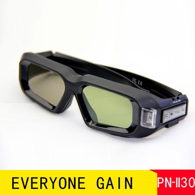 PN-II30 Premium 3D DLP Vedio Glasses Active Shutter Work Long Time Eyeglasses Home Office Business Projector Immersive Glasses