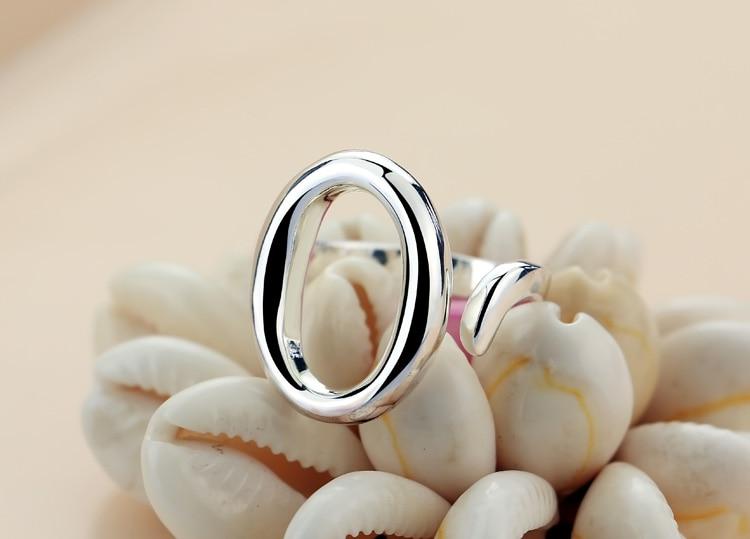 Новые модные классические простые Модные женские кольца, серебряные украшения кольца, овальное открытие, регулируемый размер, подарок на д...