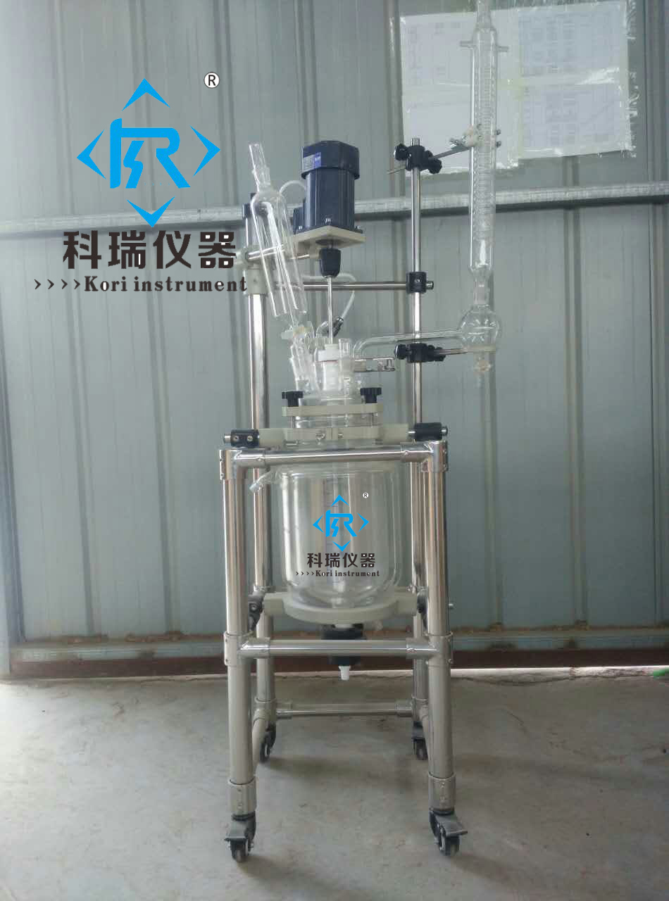 New Style 5L Double Wall Jacketed  Reactor price/ Jaceted Reactors with Reflux flask with PTFE Seal with multi-glass lid for lab stirring motor driven single deck chemical reactor 20l glass reaction vessel with water bath 220v 110v with reflux flask