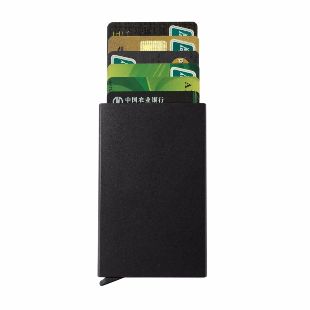 Automatic Pop-up ID Credit Card Holder Universal Anti-magnetic Bank Business Card Package Case Aluminum Alloy Card Box