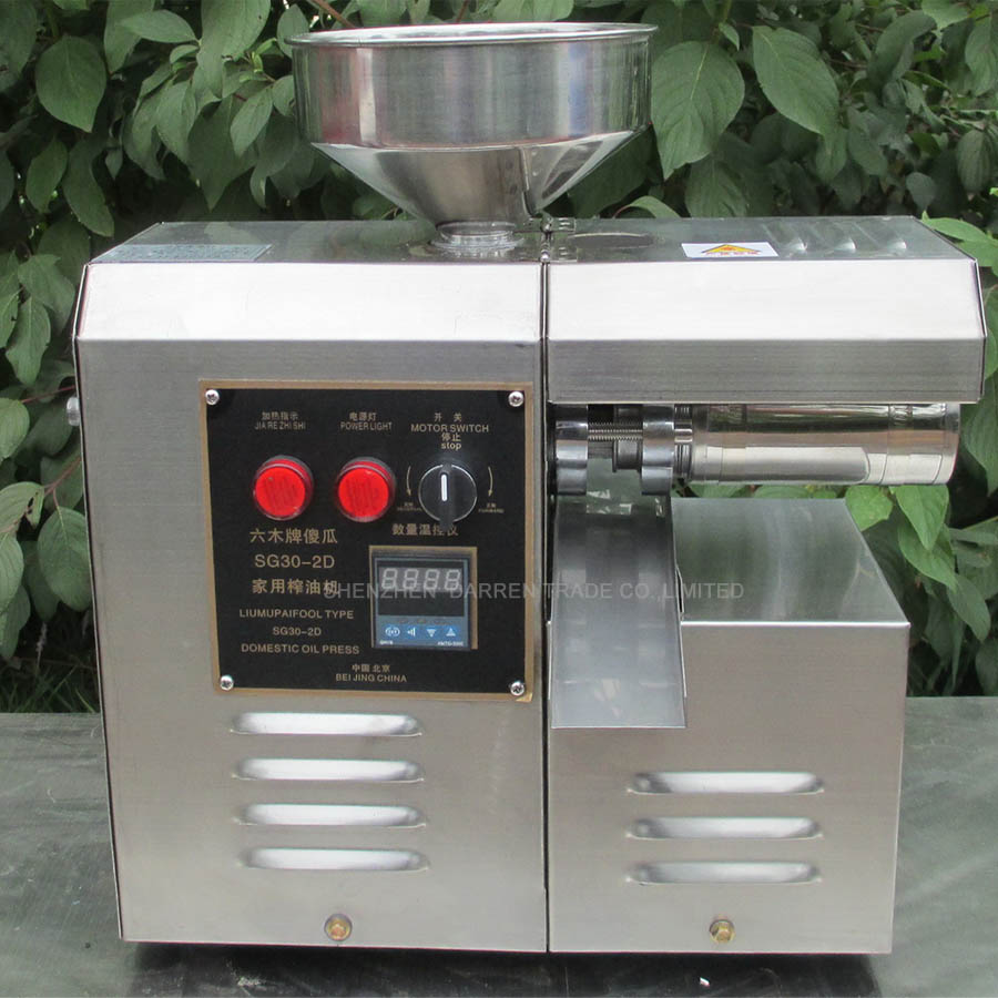 home use Electric Stainless Steel Oil Press Machine pinenut High Oil Extraction Rate Oil Presser SG30-2D 1PC цена