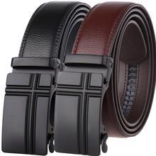 2019 Hot Sale Designer Belt For Men Quality Automatic Metal Buckle Belt Men Business Style Genuine Leather Men Belts belts men 140cm 150cm 160cm 2017new fashion business casual male belt strong men best popular selling goods cool choice hot sale