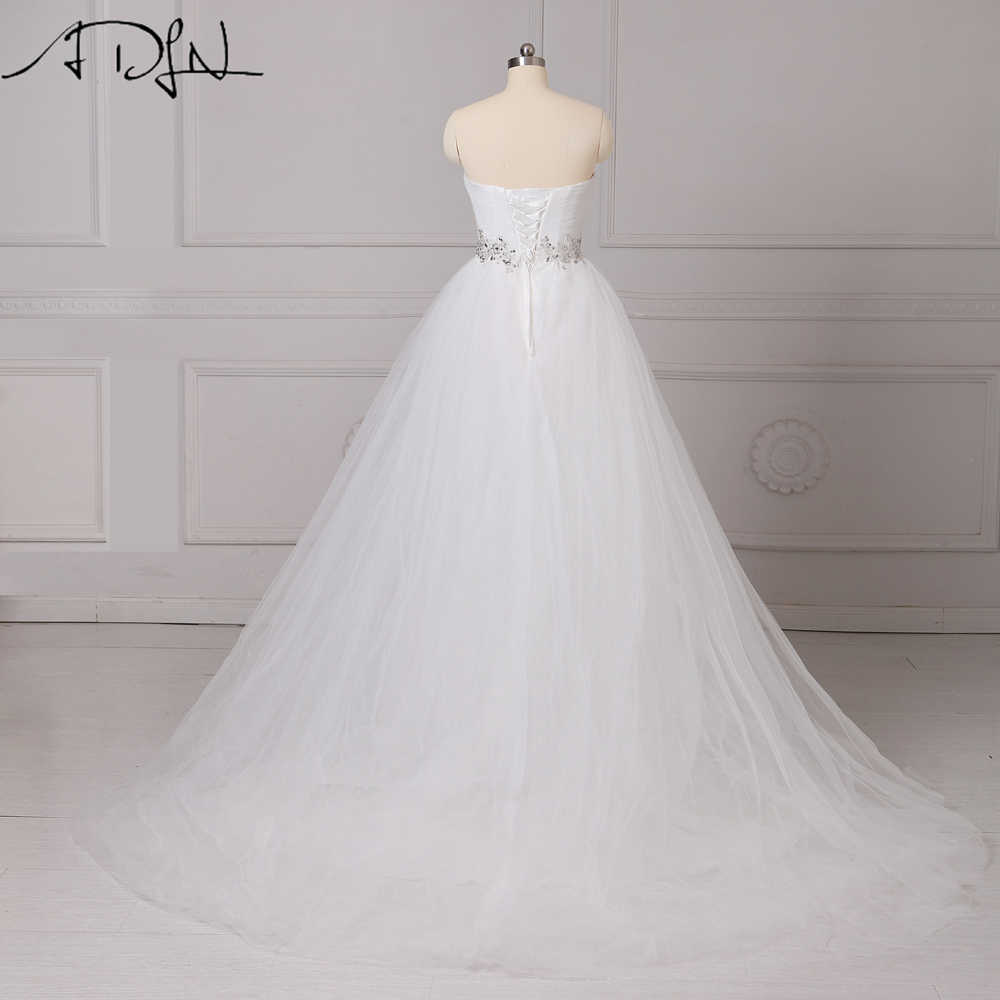 ADLN Elegant Wedding Dresses  Sweetheart Tulle Beaded Vestidos de Novia A-line White/Ivory Corset Bridal Gown Customized