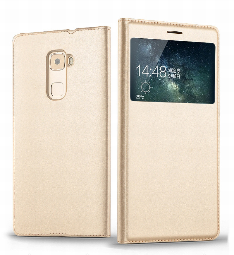 Flip Window View Premium PU Leather Smart Sleep Wake Up Cover Case For Huawei Mate S 5.5