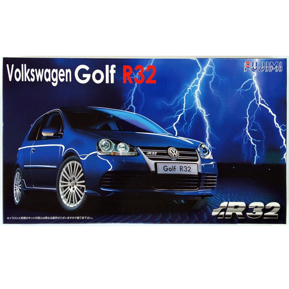 Fujimi RS-02 12328# 1/24 Scale Model Sport Car Kit VW Golf MK5 R32 VR6 plastic model kit revell model 1 25 scale 85 7457 69 camaro z 28 rs plastic model kit