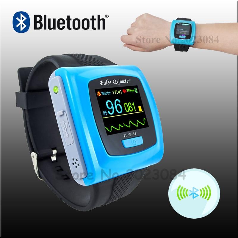 Free Shipping CONTEC CMS50FW Wrist-Watch Bluetooth Wearable Digital Pulse Oximeter Free SpO2 Probe PR Blood Oxygen OLED USB
