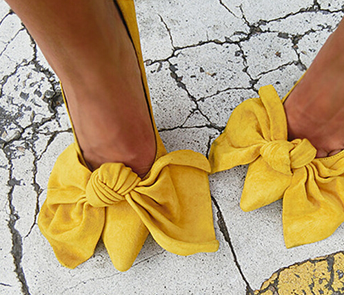 ФОТО Newest Spring Autumn Style Big Bowtie Women Pumps 7cm and 9cm Super High Flock Slip on Basic Pumps Party Wedding Shoes Woman