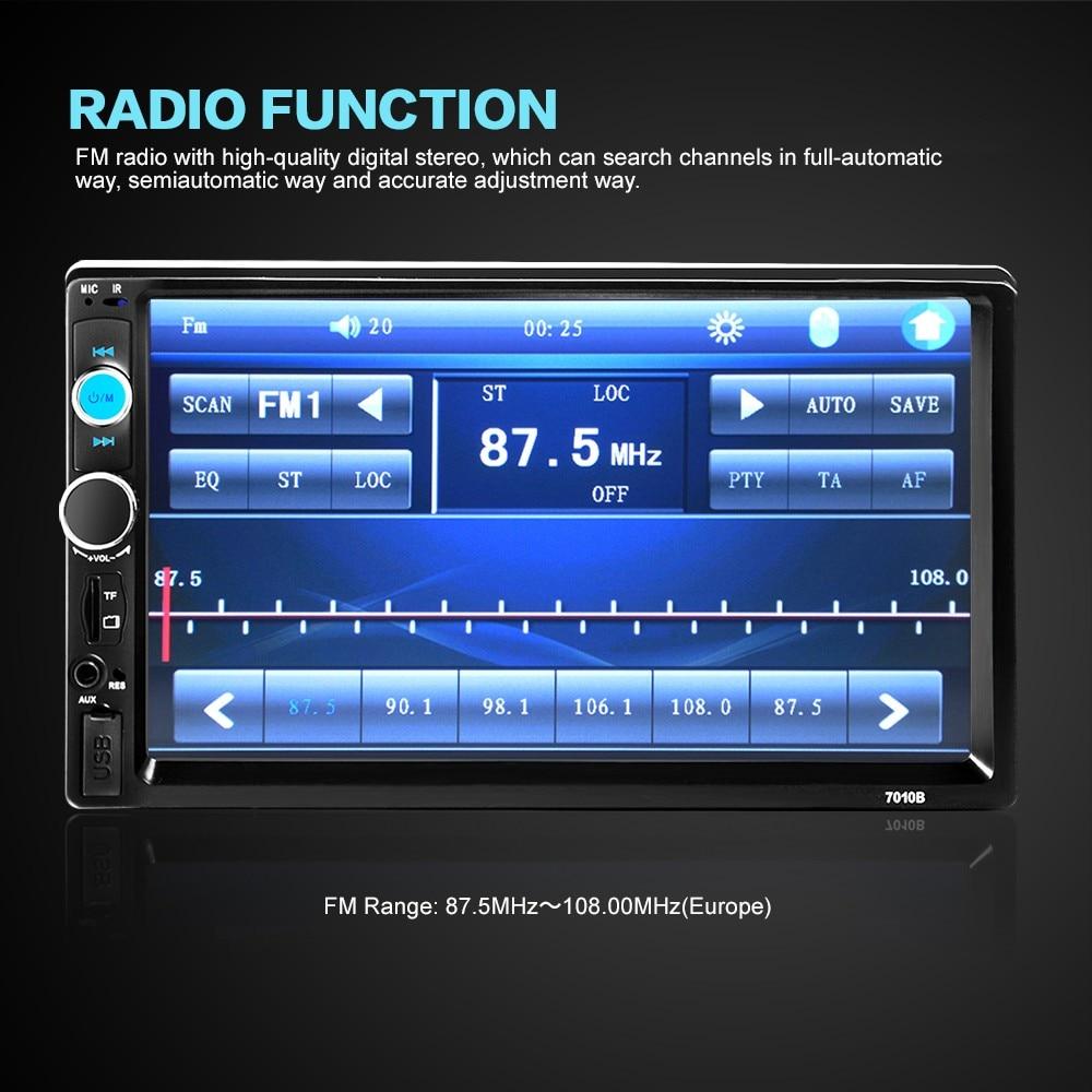 TF/USB インチのタッチスクリーンホイール車ラジオ 7010B bluetooth 11