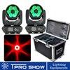 2 MovingHead 1 מקרה טיסה 6x40W Beam הזזת ראש RGBW LED נבל זום לשטוף דבורת העין תאורה אפקט DJ מועדון תאורת ערכות Dmx512