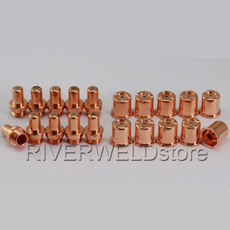 C1308 Plasma Nozzle Tips & C1402 Electrode Fit CEBORA P70 CP-70 CB70 Torch,20PKC1308 Plasma Nozzle Tips & C1402 Electrode Fit CEBORA P70 CP-70 CB70 Torch,20PK