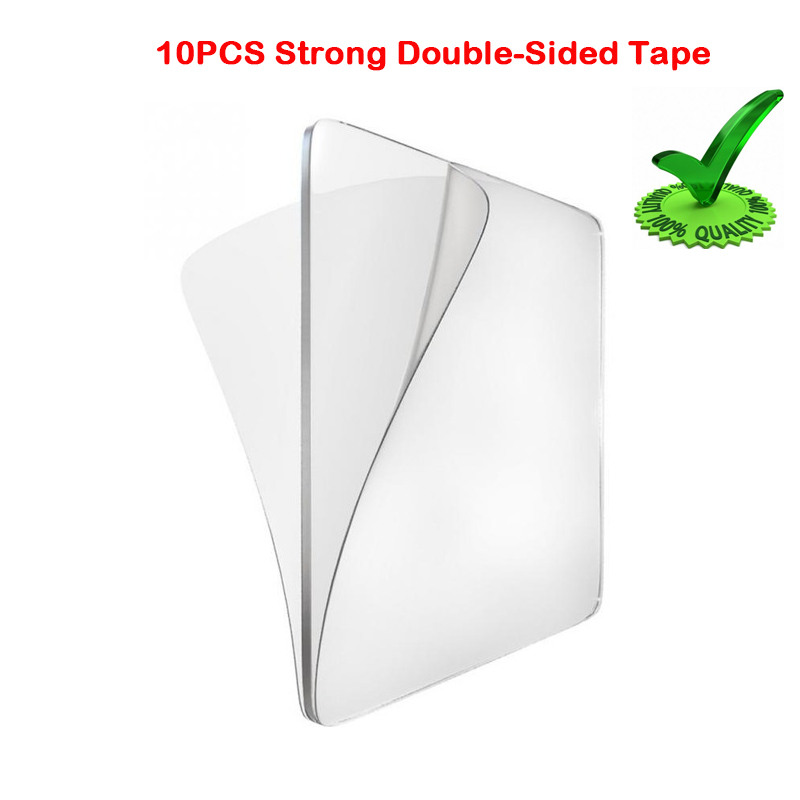 10pcs Transparent Double Sided Adhesive Tape Home Wall Hangings Adhesive Glue Tapes Car Sticker Auto Adhesive Tape Kitchen Tool