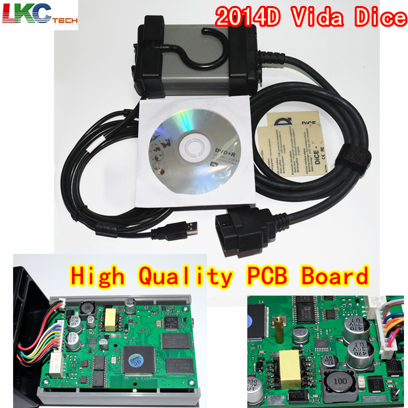 Russion Stock! Vida Dice 2014D Full Chip Multi-Language Dice Pro+ Pro Green Board Full Function Diagnostic Scanner Tool