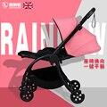 32961392574 - Cochecito de bebé paraguas plegable ultraligero puede sentarse reclinable simple de dos vías invierno bebé recién nacido cochecito infantil