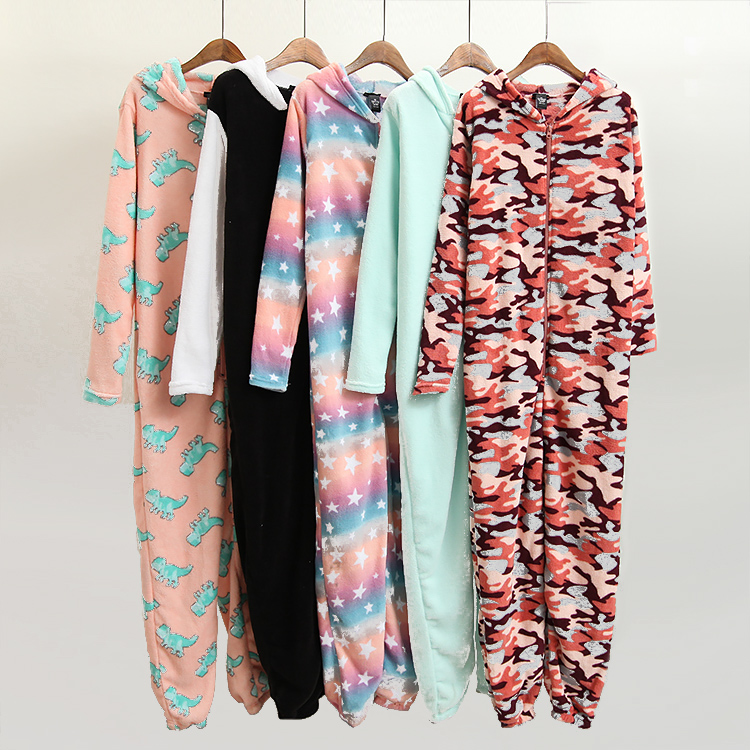 Woman Kawaii Winter Onesies ...