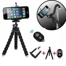 Mini Tripé Flexível Portátil Clipe Suporte Do Telefone Polvo Tripé Controle Remoto Sem Fio Bluetooth Para Smartphone E Câmera