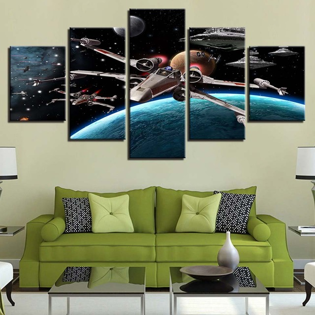 Modular Pictures Wall Art HD Prints 5 Pieces Star Wars Canvas Movie Painting Home Bedside Background Decor Modern Artwork Poster