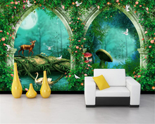 Beibehang Customize any size 3D wallpaper beautiful dream arch fairy tale forest photo wall paper Children room wallpaper