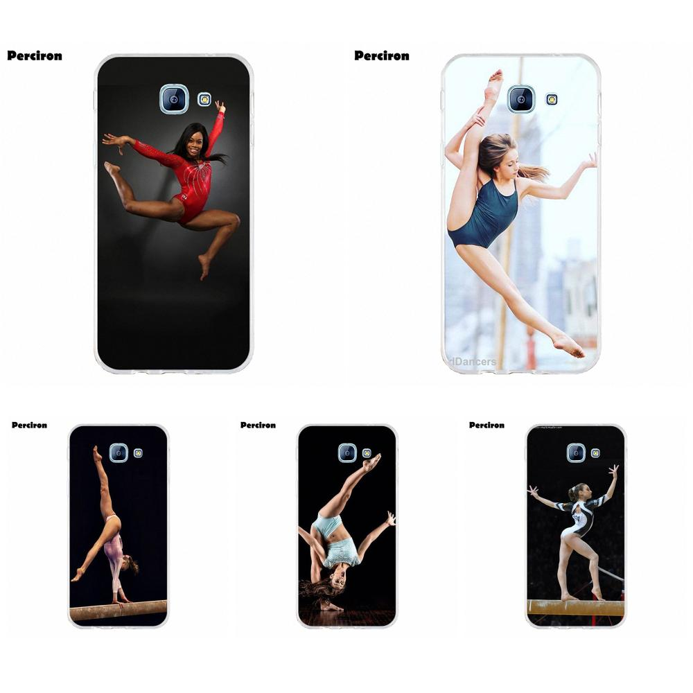Perciron Soft Print Phone Cover Case For Samsung Galaxy A3 A5 A7 J1 J2 J3 J5 J7 2015 2016 2017 Love <font><b>Gymnastics</b></font> Balance Beam image
