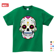 2019 New Children Lovely Skull Hip Hop Kids T -shirt Punk Shirts Boys Funny Teens -shirts Summer Clothes