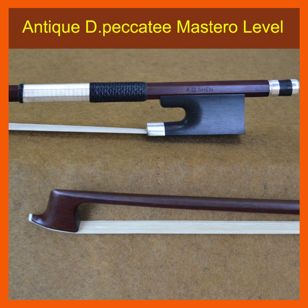 4/4 Size 910V D.peccatee Master Pernambuco VIOLIN BOW Nice Quality Ebony and Horsehair 100% Silver Fitted Violin Accessories