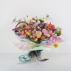 Image 5 - Nicrolandee 20 インチ × 10 ヤード花の包装虹色セロハン虹フィルムクリスマス誕生日結婚式の装飾用品
