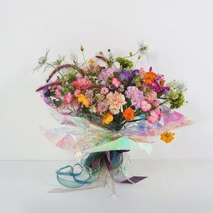 Image 5 - Nicrolandee 20 inch x 10 חצר פרח גלישת ססגוני צלופן קשת סרט חג המולד יום הולדת חתונת אספקת קישוט