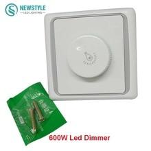 High quality LED Dimmer Switch 220V 600W Brightness Dimmers For adjustable LED lights