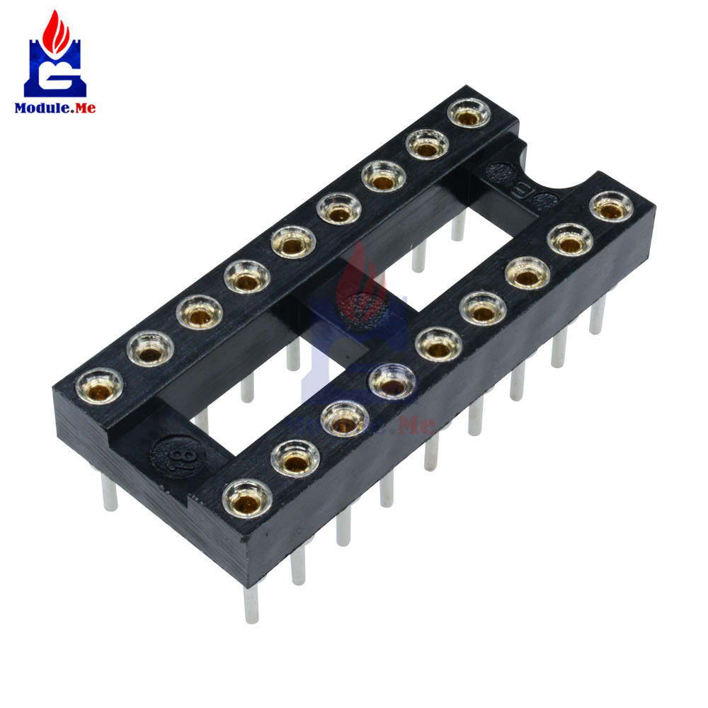2pcs 28Pin DIP28 SIP Round IC Sockets Adaptor Solder Type gold plated machined