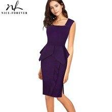 Хорошее-forever, винтажное, элегантное, однотонное, для работы, с рюшами, vestidos, деловые, вечерние, облегающее, облегающее, для женщин, для офиса, для работы, платье B446
