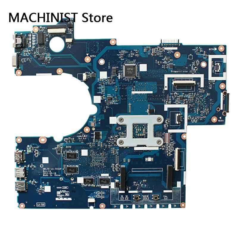 Original For ASUS K73T X73T K73TA K73TK R73T laptop notebook motherboard QBL70 LA-7553P HD7670M DDR3 1