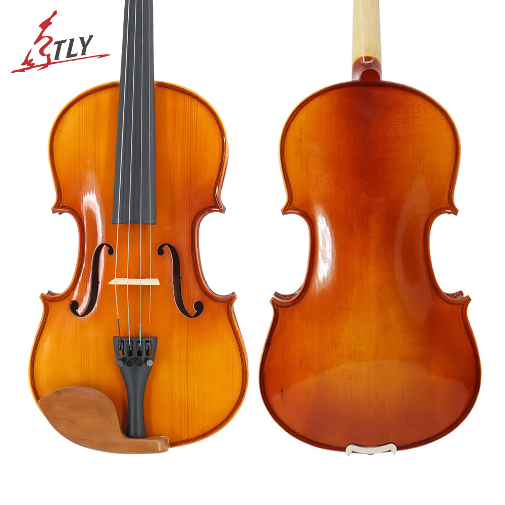 TONGLING High Quality Full Size 4/4 Students Beginner Violin Oil Varnish Spruce Face Maple Violin Jujube Parts w/ Case Bow Mute italy master hand made carved maple violin naturally flamed customized antique violino 4 4 w full accessories tongling brand