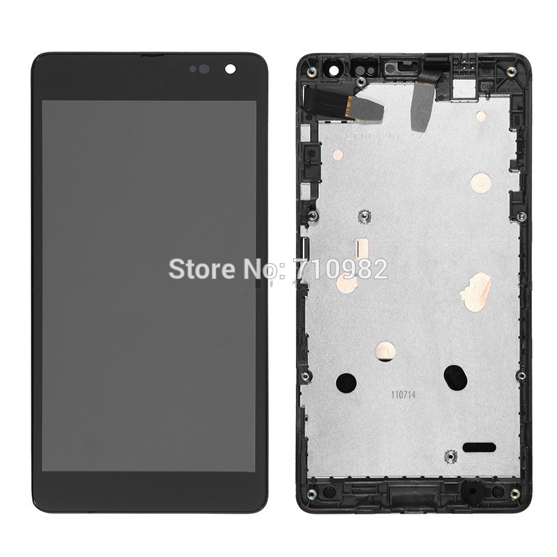 HK Free shipping LCD Screen and Digitizer Assembly with Front Housing for Microsoft Lumia 535